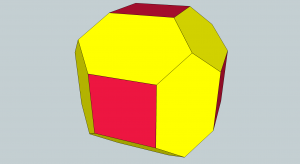Cube edge trimmed